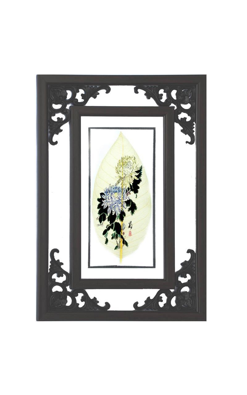 花鸟类壁挂花角镜框